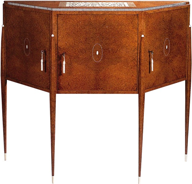 Cabinet With Spindles Feet   With Inlay Ivory