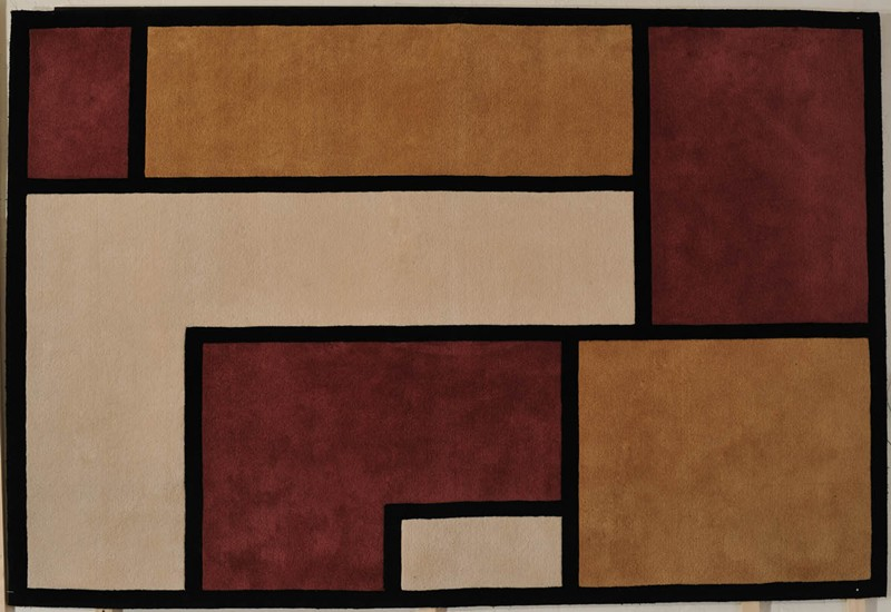 tapi 18a dpg tapis rectangle hommage mondrian tapis patrick gaguech les collections. Black Bedroom Furniture Sets. Home Design Ideas
